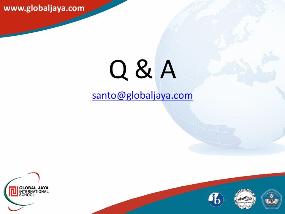 Q & A santo@globaljaya.com