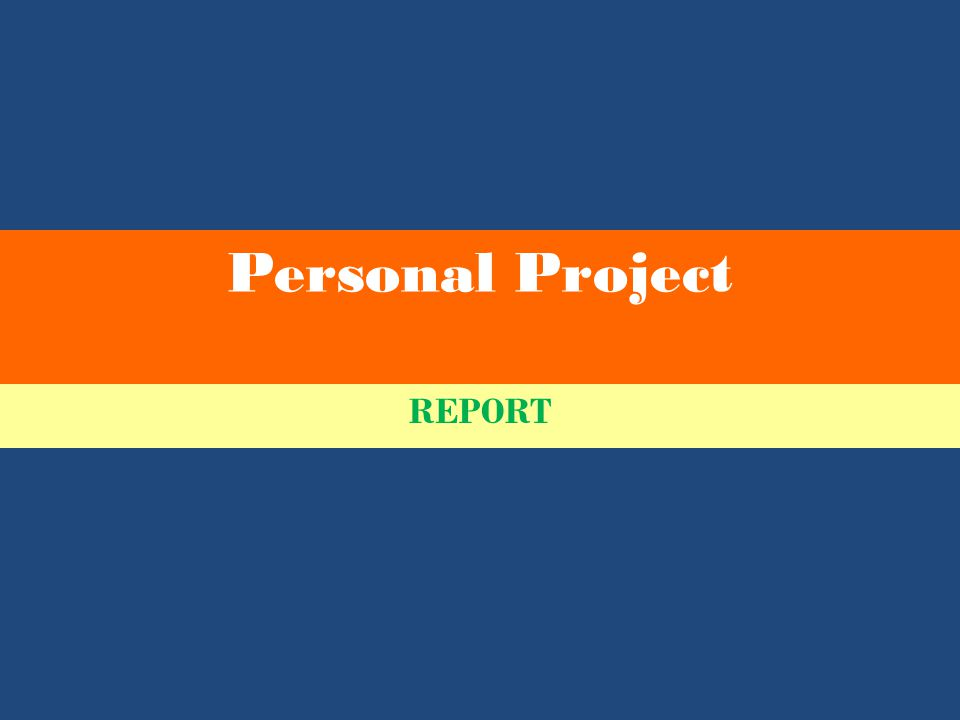 Personal Project REPORT