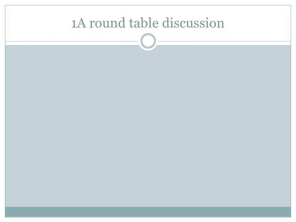 1A round table discussion