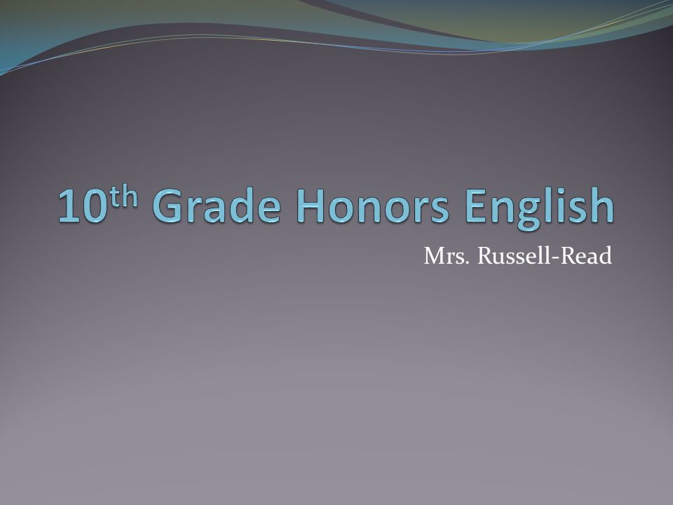 Mrs. Russell-Read