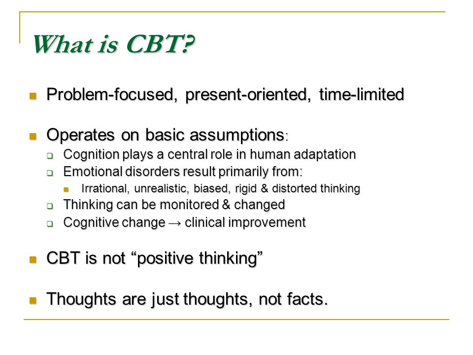 What is CBT.