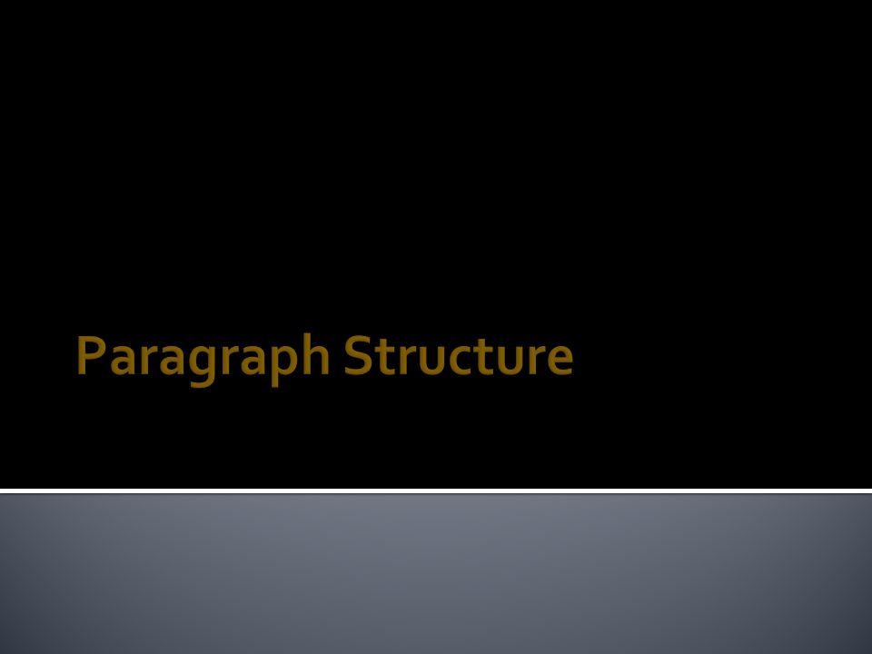  Paragraph Structure  Types of Sentences Used in Paragraphs  Graphs of a Good Paragraph