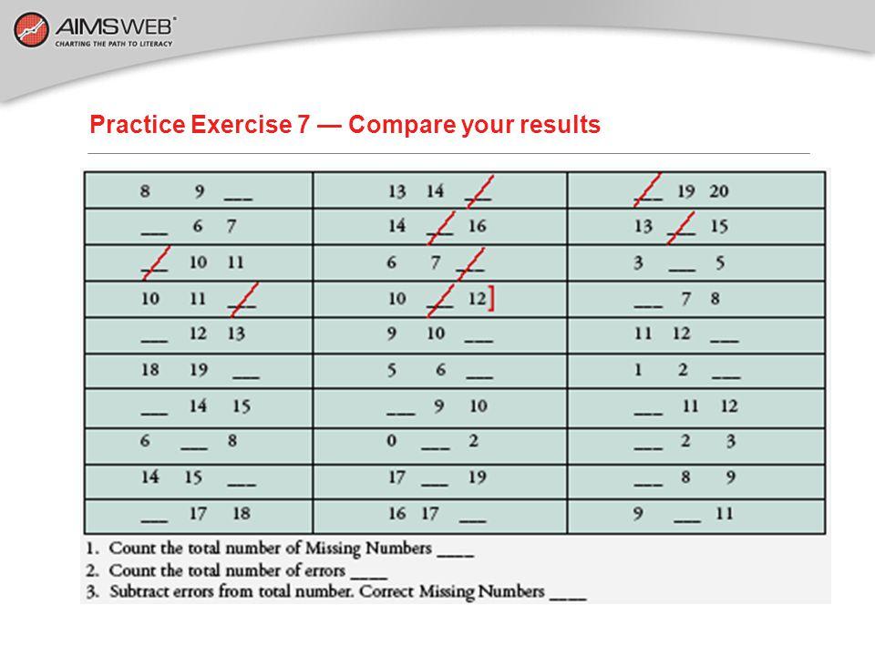 Practice Exercise 7 — Let's Score!