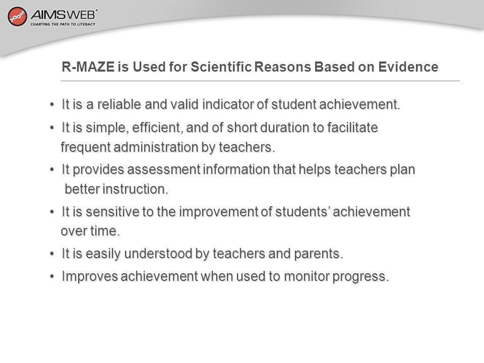 Curriculum Based Measurement Reading R-MAZE AreaTimingTest ArrangementsWhat is Scored.