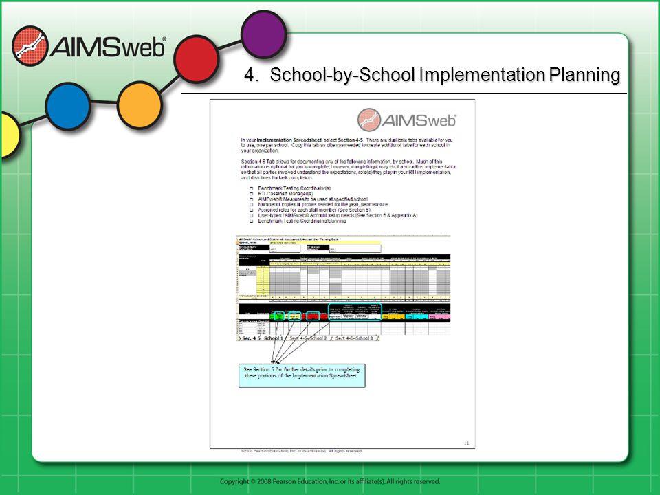 4. School-by-School Implementation Planning