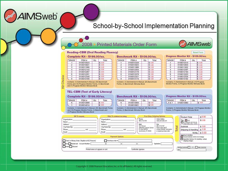 School-by-School Implementation Planning