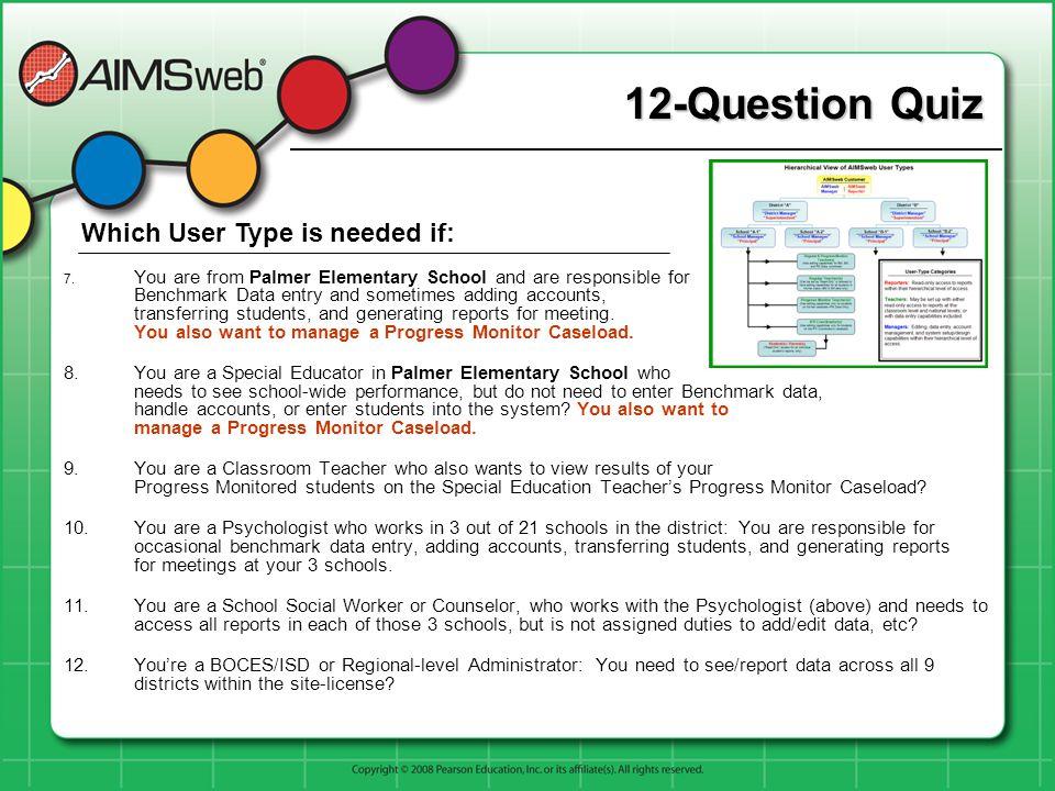 12-Question Quiz 7.