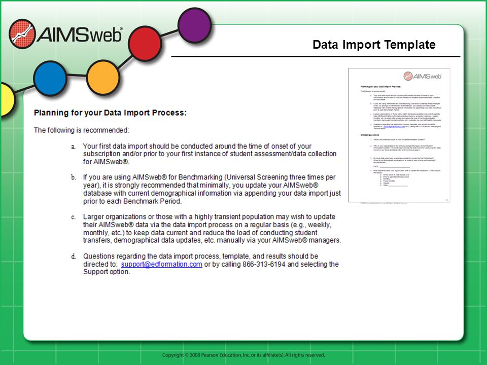 Data Import Template