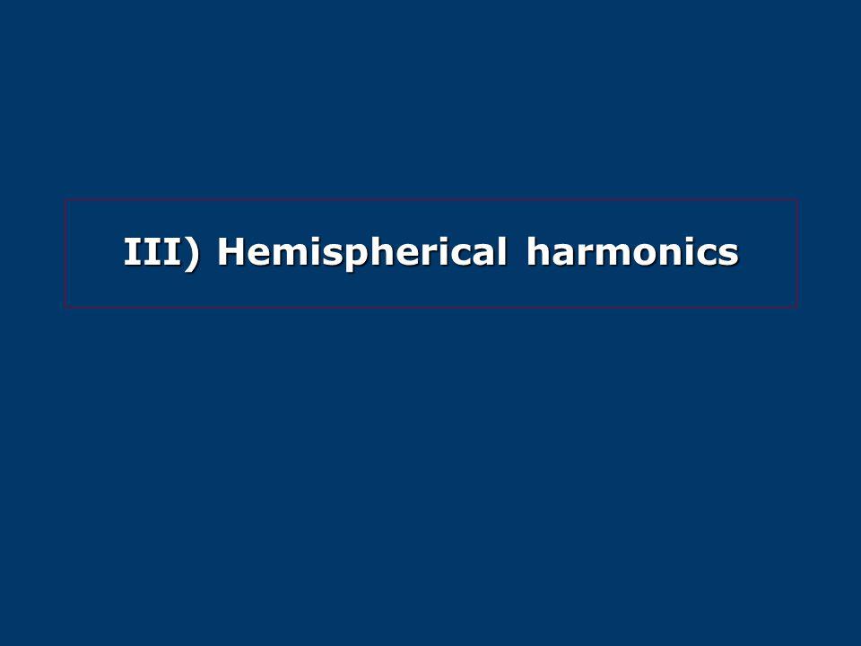 III) Hemispherical harmonics