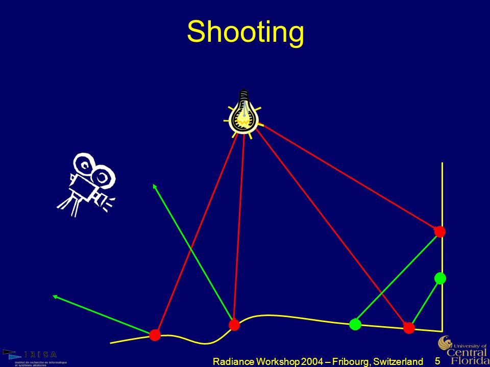 5 Radiance Workshop 2004 – Fribourg, Switzerland Shooting