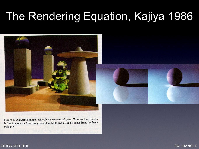 The Rendering Equation, Kajiya 1986 SIGGRAPH 2010
