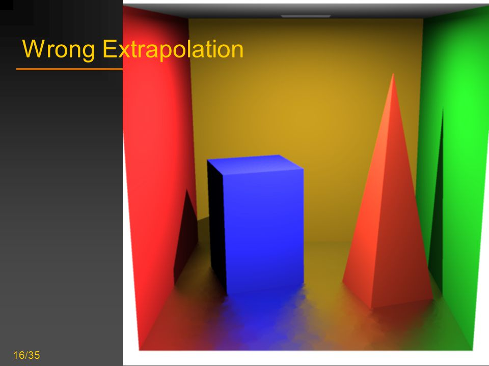 Improved Radiance Gradient Computation 16/35 Wrong Extrapolation