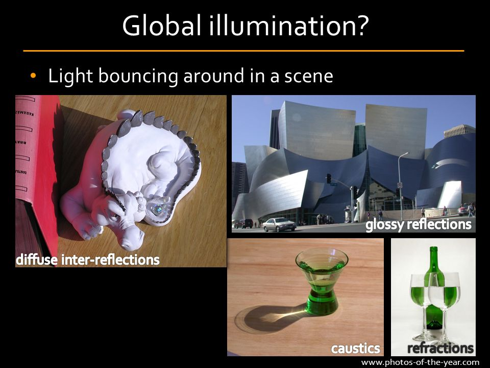 Light bouncing around in a scene Global illumination? www.photos-of-the-year.com