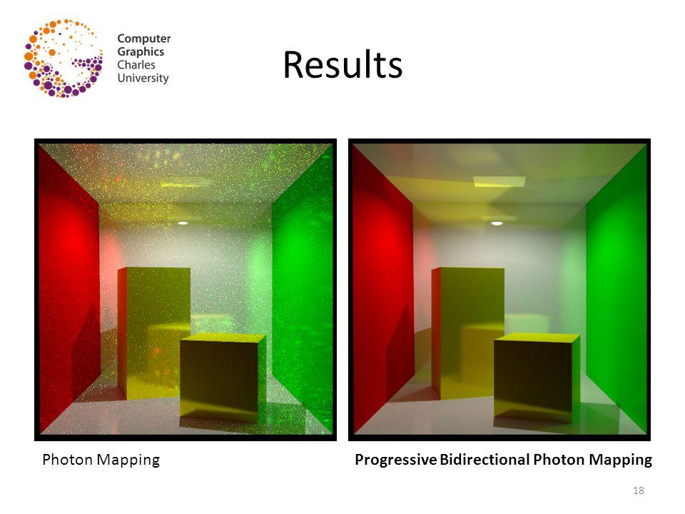 Results Photon MappingProgressive Bidirectional Photon Mapping 18