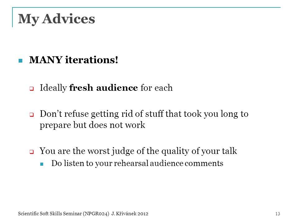 My Advices MANY iterations.
