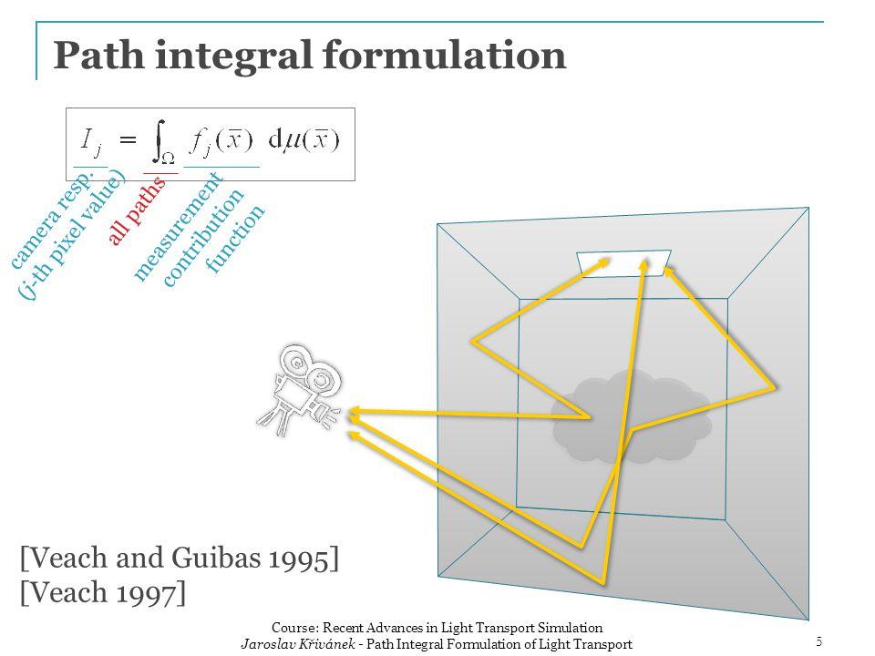 Measurement contribution function sensor sensitivity ( emitted importance ) path throughput emitted radiance 6