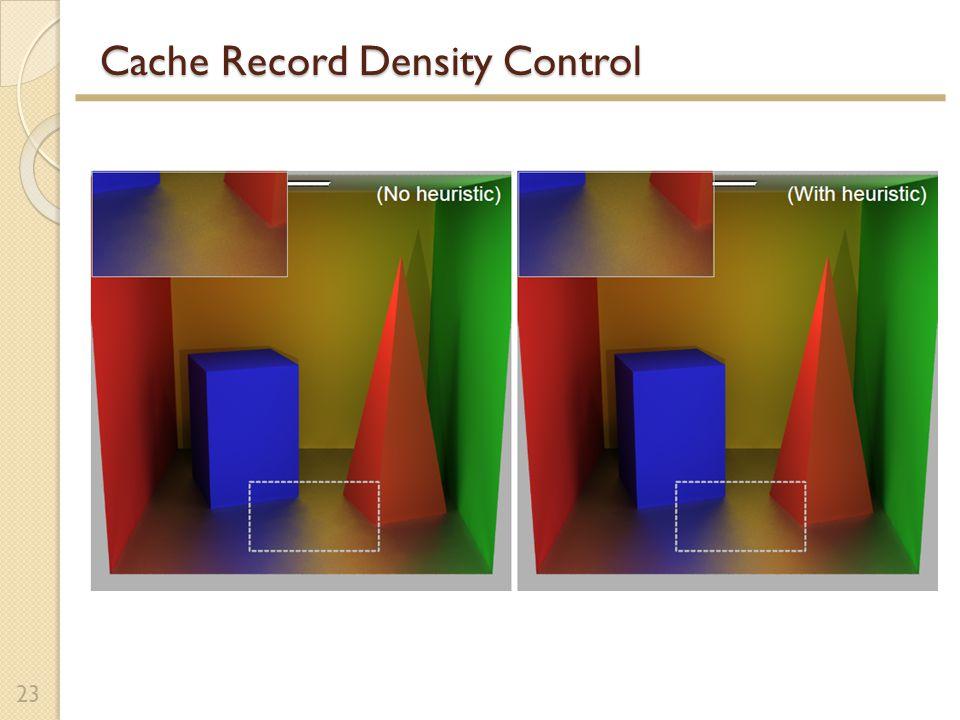 Cache Record Density Control 23