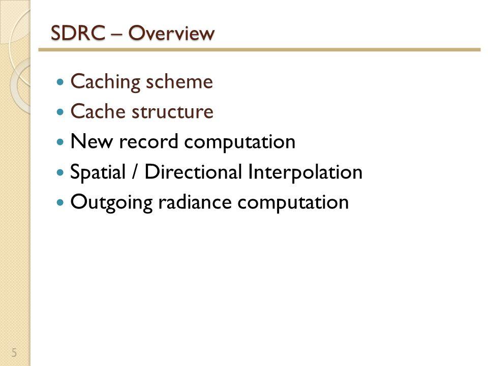 MC vs.SHRC vs. SDRC vs.