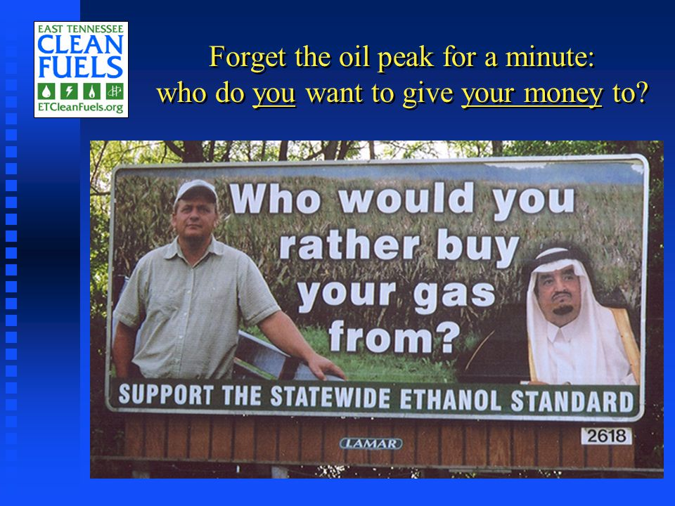 Forget the oil peak for a minute: who do you want to give your money to?