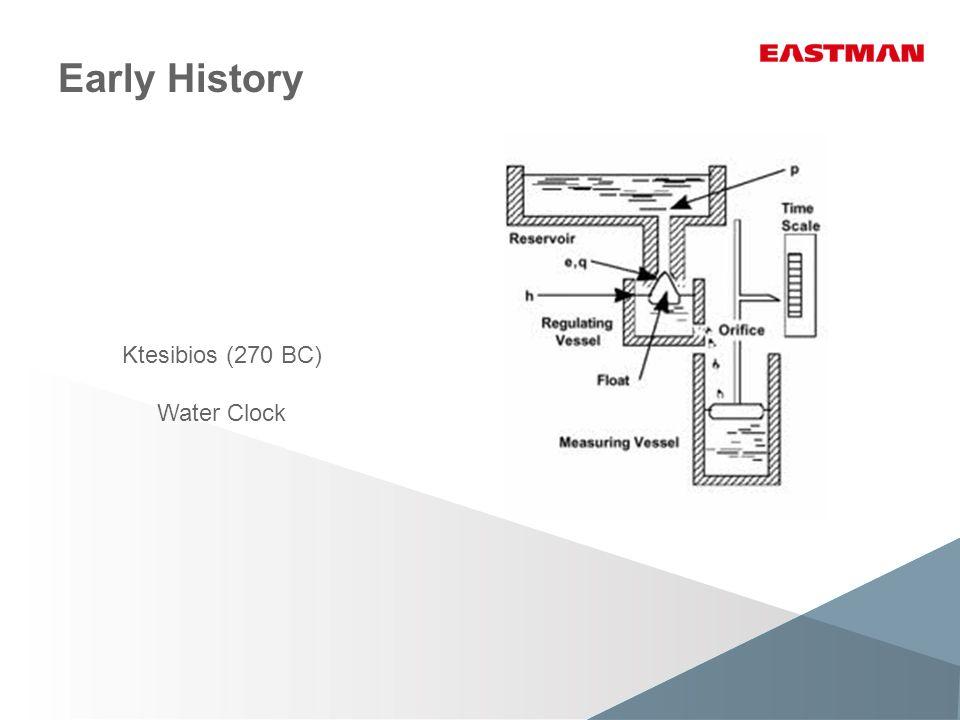Early History Ktesibios (270 BC) Water Clock