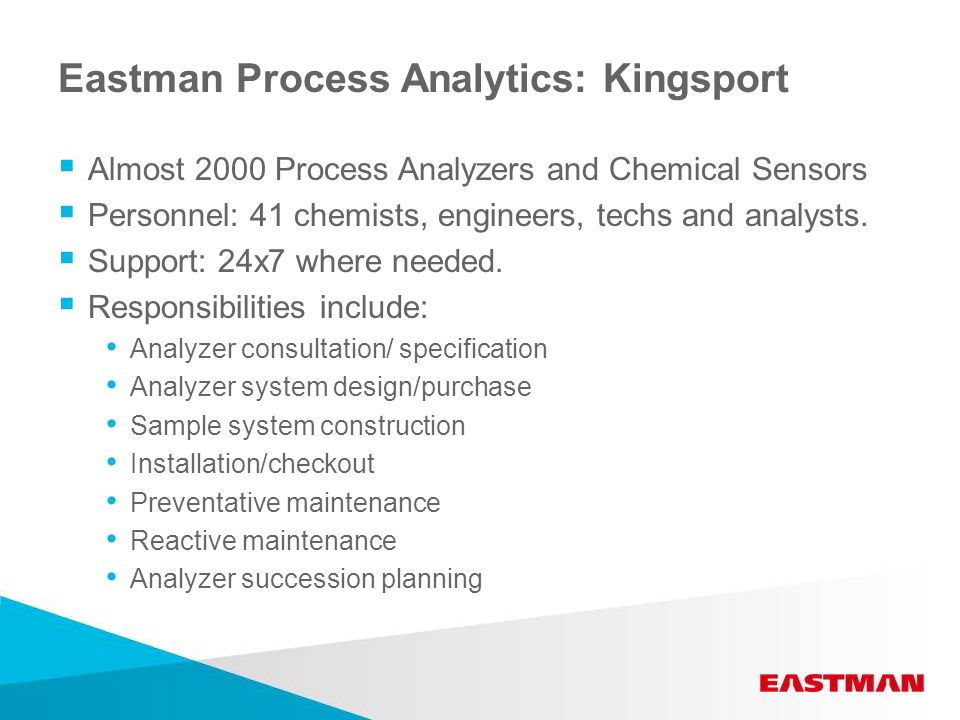 Process Analyzer Availability  If it can be done in the lab, it can installed on-line.