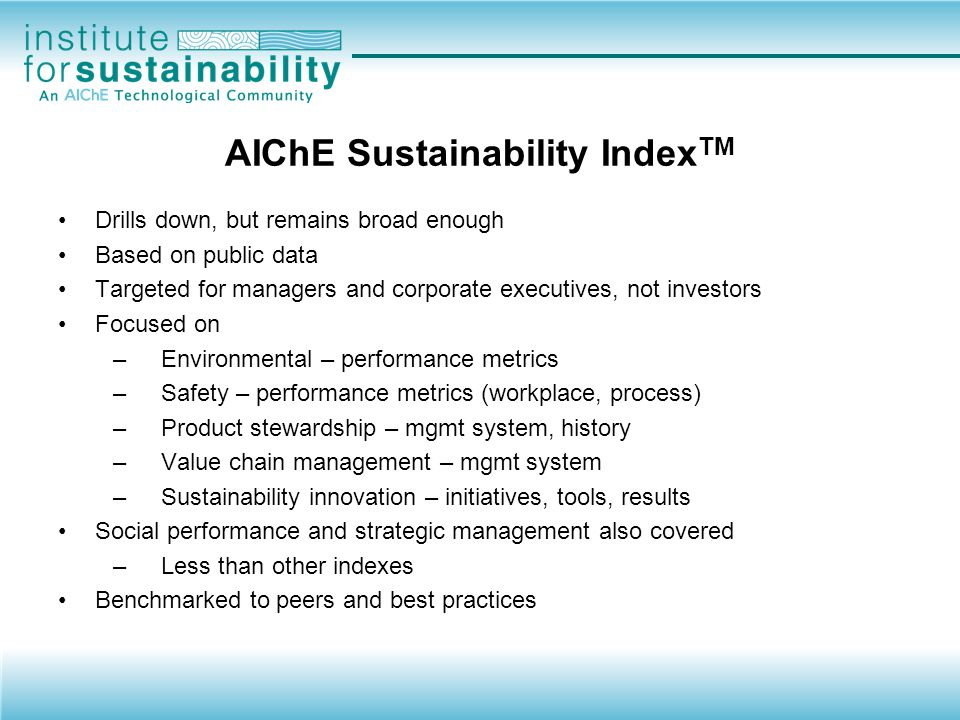 How is your Company's Sustainability Performance Viewed.