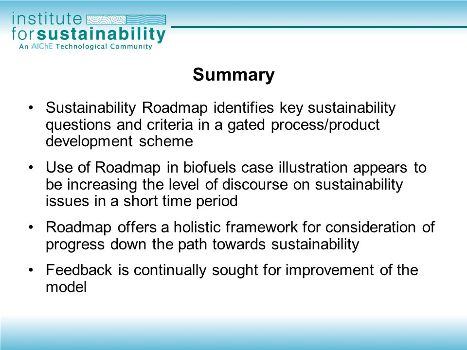 Sustainability: An emerging trend.