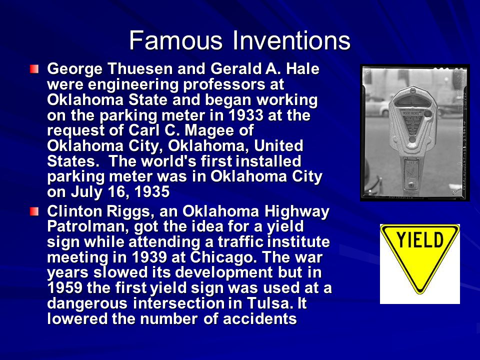 Famous Inventions George Thuesen and Gerald A.