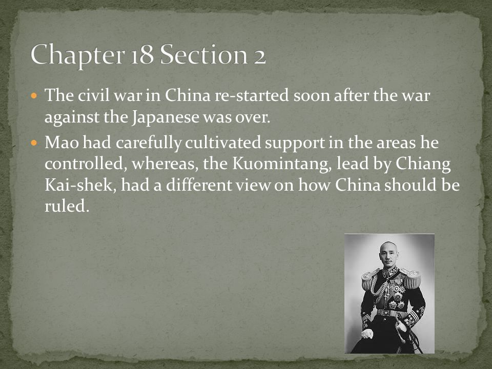 Chapter 18 Section 2 Quiz 1.) Why did U.S.get involved in a war with Korea.
