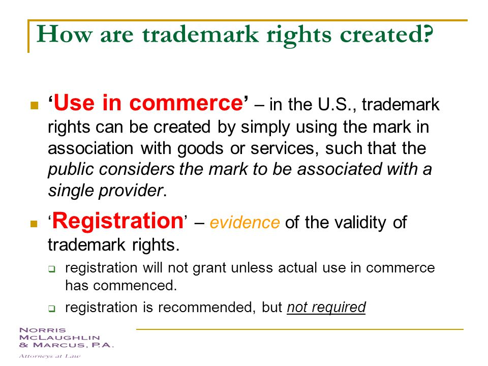 Why protect trademarks? Consumer's perspective:  Reputation for quality  Recognition of product – distinguish from competitors Trademark owner's per