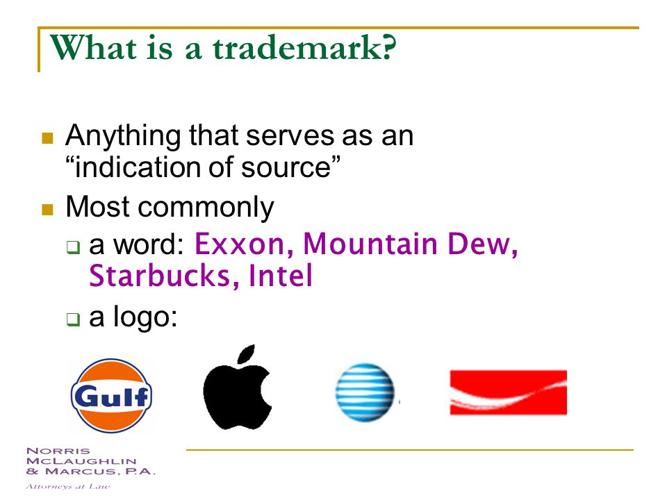 Program What is a trademark Types of marks Comparison: Trademarks, Copyrights, Choosing a mark  Distinctiveness  Confusion  Searching and Clearance Proper Trademark Usage Obtaining Protection  Common law rights  Registration and procedure
