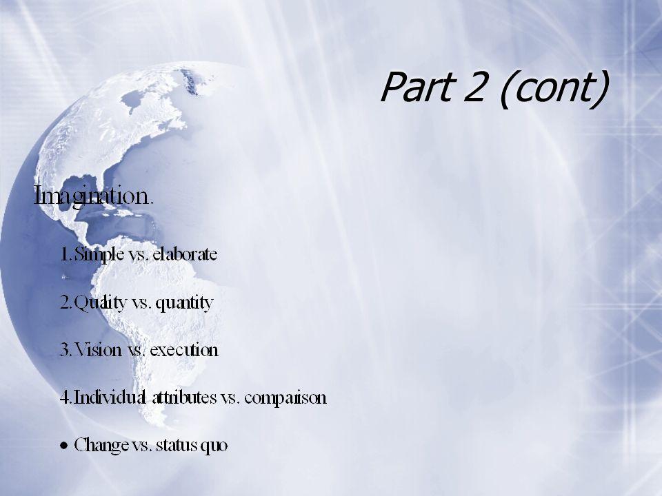 Part 2 (cont)