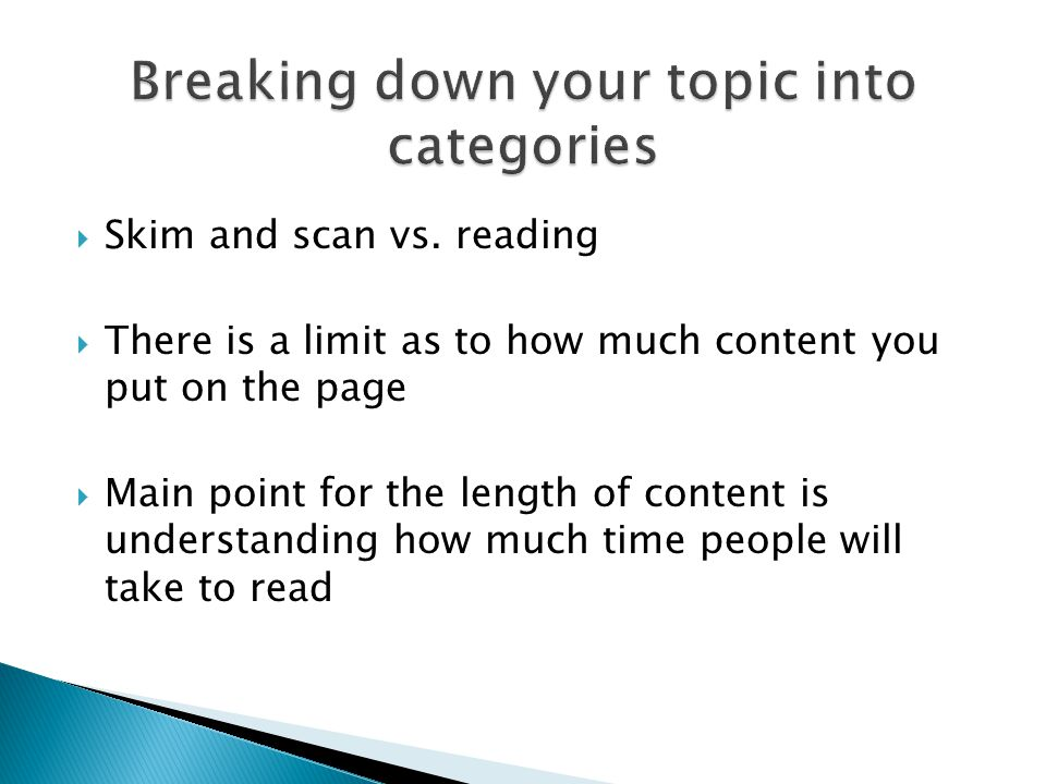  Skim and scan vs.