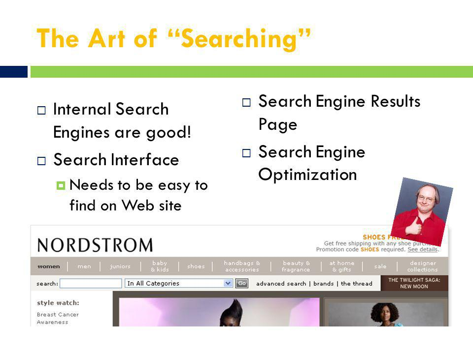 The Art of Searching  Internal Search Engines are good.
