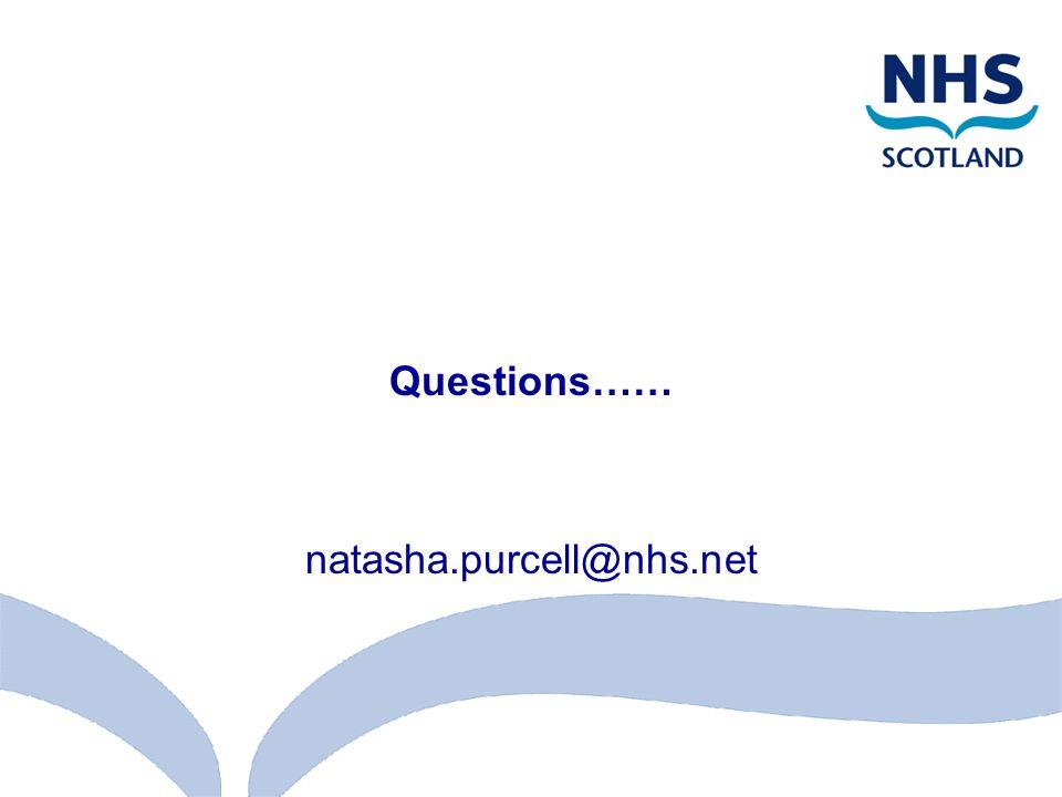 Questions…… natasha.purcell@nhs.net