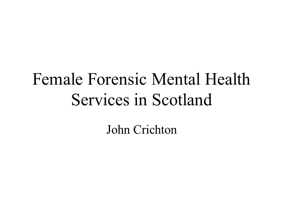 Policy Context Scottish Office (1998) Women offenders: A safer way: A review of community disposals and the use of custody for women offenders in Scotland.