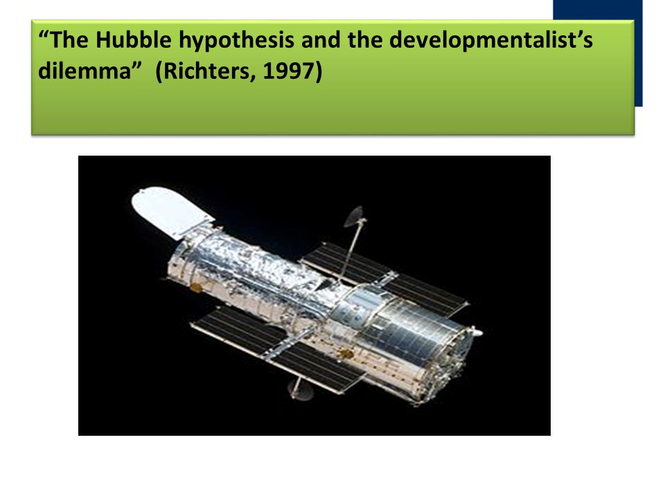 """The Hubble hypothesis and the developmentalist's dilemma"" (Richters, 1997)"