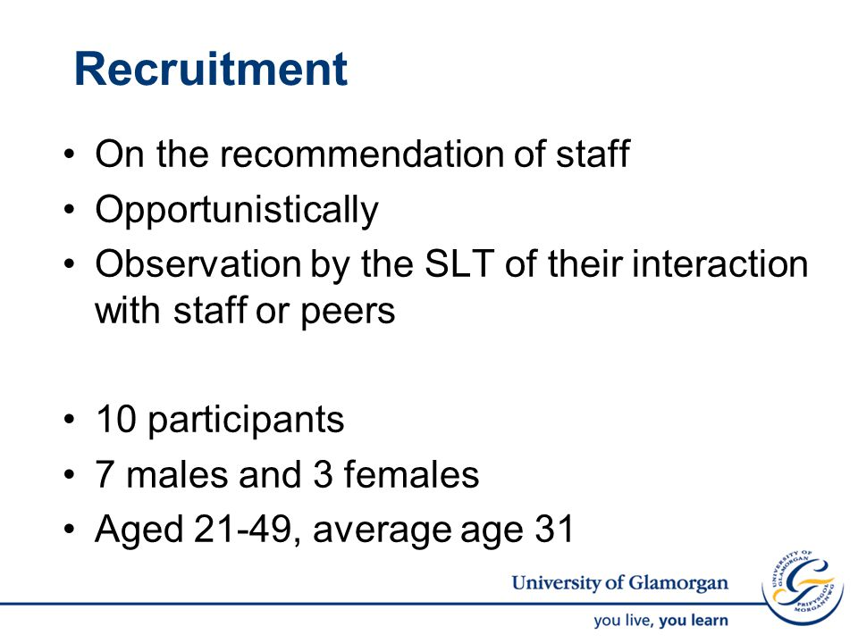 What We Learnt about Recruitment.