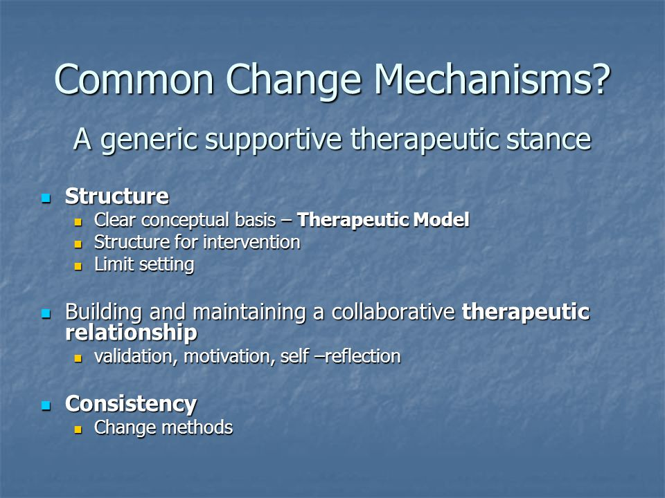 Common Change Mechanisms.