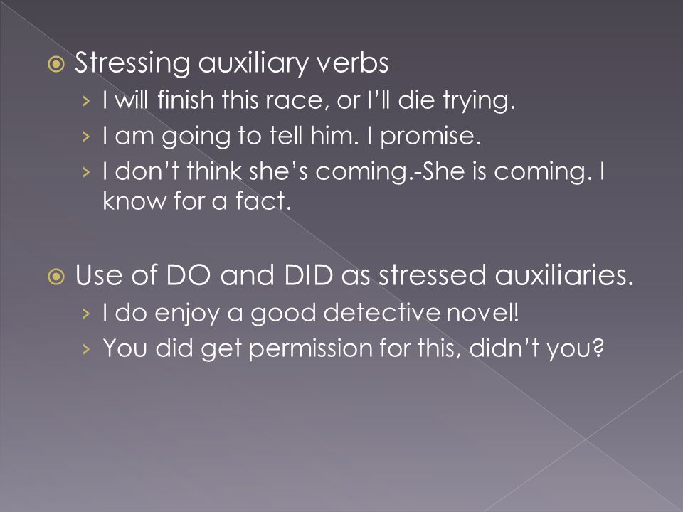  Stressing auxiliary verbs › I will finish this race, or I'll die trying.
