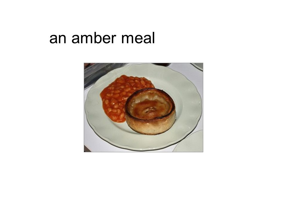 an amber meal