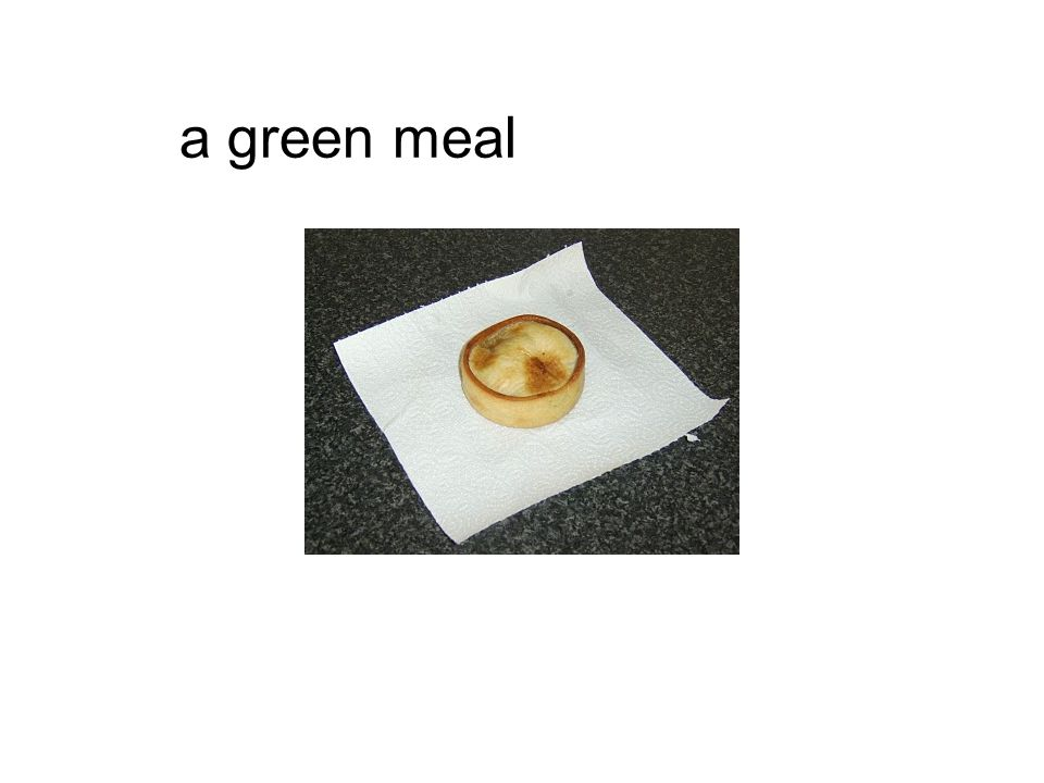 a green meal