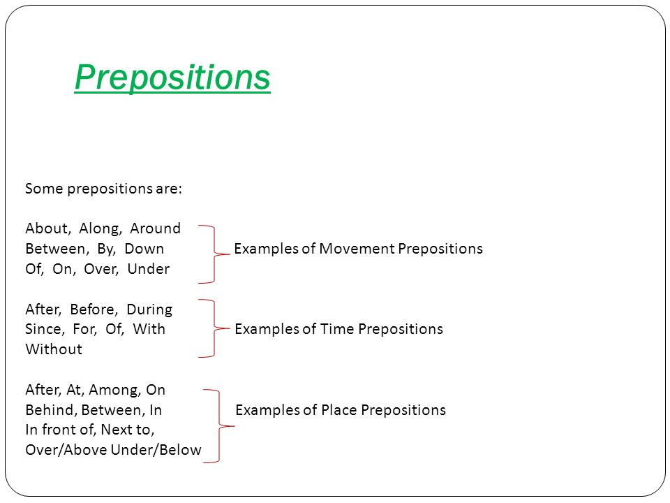 SPECIFIC USE OF SOME PREPOSITIONS 1) Time Prepositions Examples ``At´´ is used with hours At 14.00.