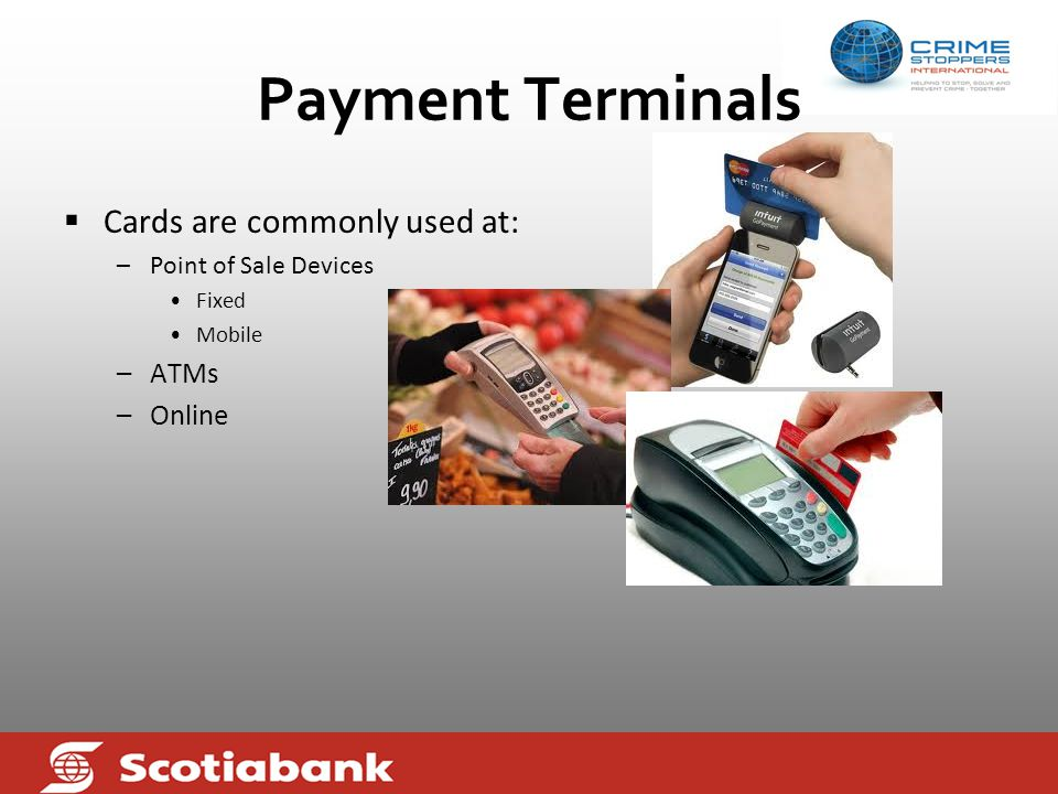 Payment Cards  A payment card is electronically linked to an account or accounts belonging to the cardholder.