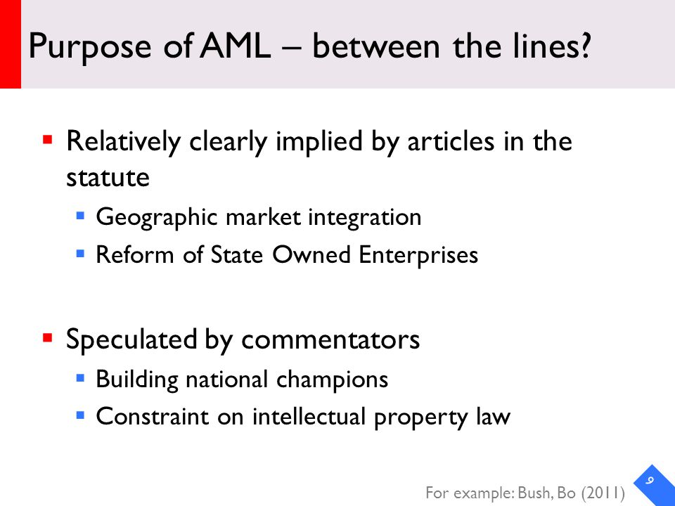 DRAFT Purpose of AML – between the lines.