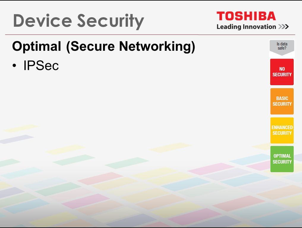 Device Security Optimal (Secure Networking) IPSec