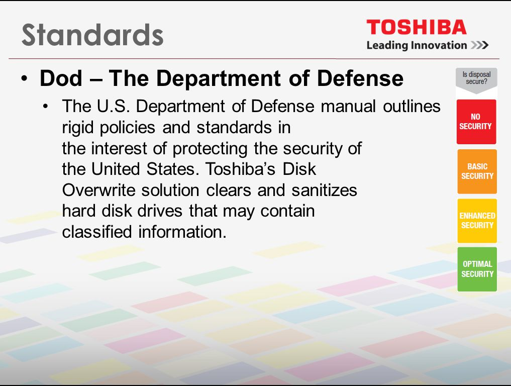 Standards Dod – The Department of Defense The U.S.