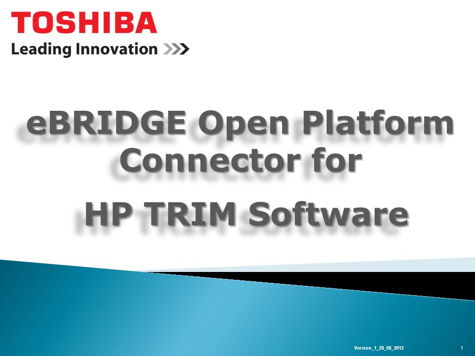 TRIM Connector eBridge Open Platform The e-BRIDGE Open Platform Connector for TRIM allows user to deliver scanned documents directly into to a TRIM Database With the option of selecting scan settings and file formats including OCR Powered by ABBYY Simplifies workflow through integration.