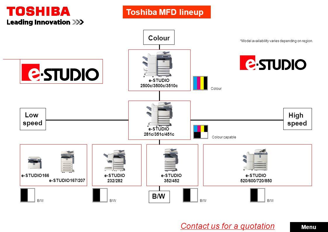 e-STUDIO166 e-STUDIO167/207 The no-nonsense, high-quality business MFD.