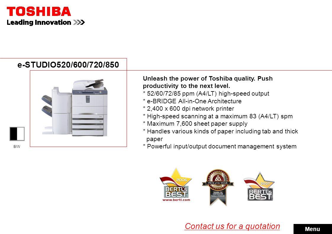 e-STUDIO281c/351c/451c e-STUDIO2500c/3500c/3510c Make the smart move.